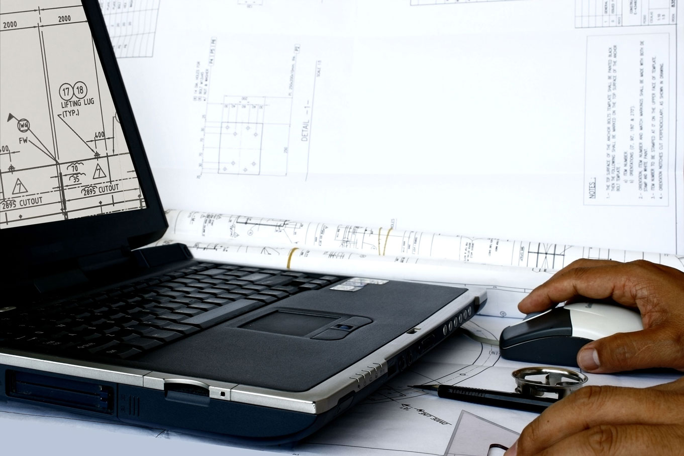 AutoCAD-translation-laptop-computer-mouse-engineering-plans-architecture