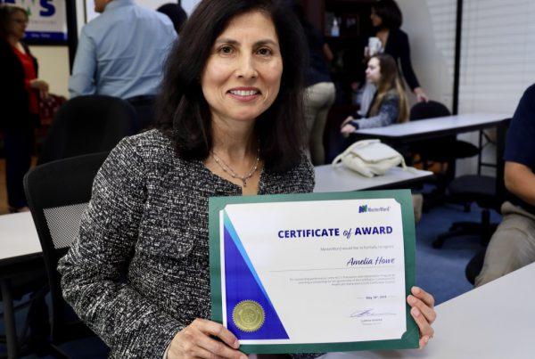 Amelia Howe HCC student MW Sponsored CCHI certificate