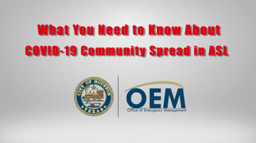 City of Houston Office of Emergency management COVID19 update