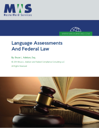 Language-Assessments and federal law white paper