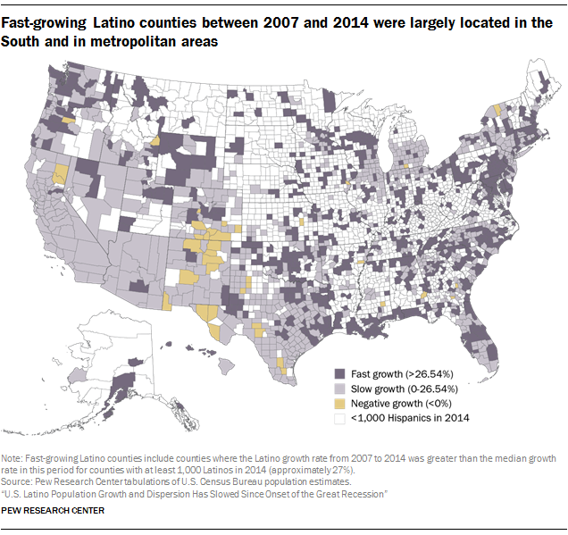 Fast growing hispanic workforce between 2007 and 2014